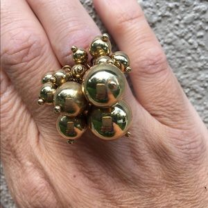 J.Crew Baubble Ring gold bubbles small